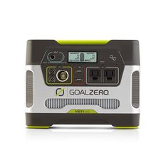 GOAL ZERO Yeti 400 Hour Portable Solar Generator at Lowe's. Quiet, portable power for base camps, cabins and unexpected outages. The Goal Zero Yeti 400 portable power station allows you to live life off the grid, Solar Powered Generator, Portable Generator, Diy Generator, Generator For Home, Solar Panel Kits, Best Solar Panels, Solar Charger, Solar Battery, Survival