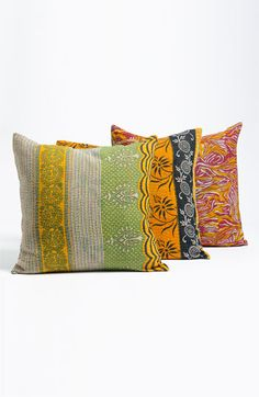 Rizzy Home 'Kantha' Pillow available at Nordstrom ... Thirsting for color!!!  These might do the trick!