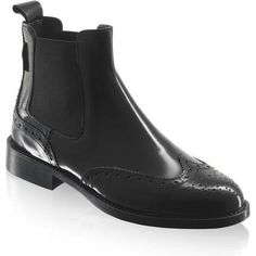 Russel & Bromley Cadogan Brogue Chelsea Boots as seen on Perrie Edwards