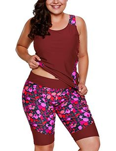 Shop a great selection of Foryingni Women's 2 Piece Plus Size Floral Tankini Swimsuit Bermuda Shorts. Find new offer and Similar products for Foryingni Women's 2 Piece Plus Size Floral Tankini Swimsuit Bermuda Shorts. Plus Size Tankini, Plus Size Swimsuits, Women Swimsuits, Curvy Fashion, Plus Size Fashion, Fashion Women, Top Red Wines, Plus Size Clothing Stores, Floral Tankini