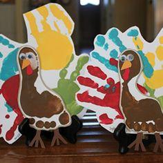 Handprint/Footprint Turkeys