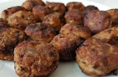 Sweets Recipes, Meat Recipes, Cooking Recipes, Desserts, Garlic Pizza, Tasty Meatballs, Baking Videos, Greek Dishes, Food Platters