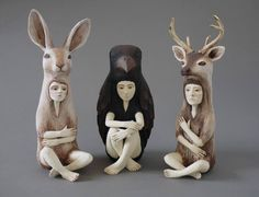 Ceramic figures by Crystal Moray