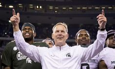 "Michigan State's Mark Dantonio relives ""Little Giants"" = Third-and-five.  Michigan State quarterback Kirk Cousins dropped back in the pocket, hoping to find a receiver as he had done so many times before.  Instead, he was swarmed by Notre Dame's defense for a loss.  Down 31-28, the....."