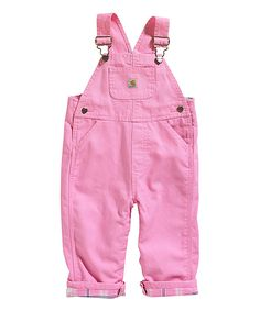 Another great find on #zulily! Pink Canvas Overalls - Infant & Kids by Carhartt #zulilyfinds