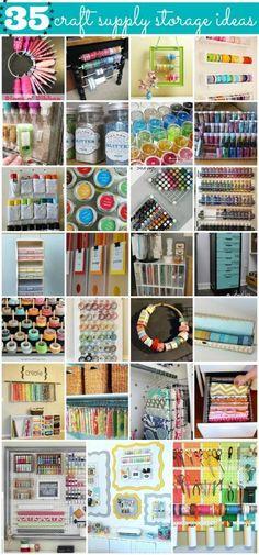 35 Crafty Craft Storage Solutions – Scrap Booking