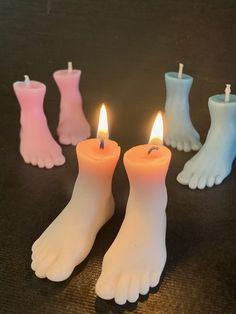 Small Candles, Unique Candles, Pillar Candles, Lavender Scent, Sculpture, Japanese Artists, Art Design, Decoration, Mini