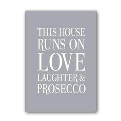 Love laughter prosecco