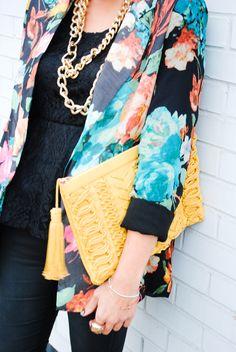 ::Floral Blazer + Gold::
