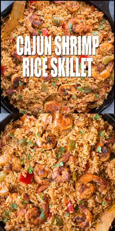 Cajun Shrimp & Rice Cajun Shrimp and Rice is packed with flavour with juicy shrimps and fluffy rice. A perfect Shrimp and rice recipe, that takes less than 30 minutes from stove to table. Easy Rice Recipes, Easy Casserole Recipes, Healthy Chicken Recipes, Beef Recipes, Cooker Recipes, Vegetarian Recipes, Flavoured Rice Recipes, Recipes With Brown Rice, Cuban Food Recipes