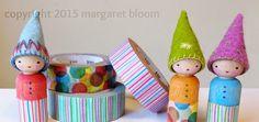 we bloom here: tutorial :: peg dolls & washi tape.  See also cute acorn cap peg doll.