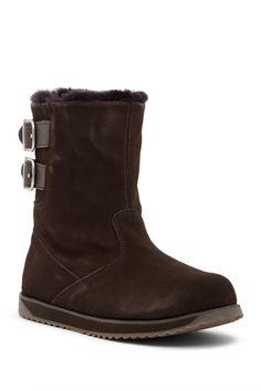 Sandy Bay Buckle Genuine Fur Waterproof Boot