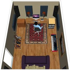 by Pablo Bellinghausen – Of all the factors that allow a home or project studio to improve the sound of their final product, acoustic. Recording Studio Furniture, Home Recording Studio Setup, Home Studio Setup, Basement Studio, Studio Layout, Garage Studio, Home Studio Musik, Audio Studio, Music Studio Room