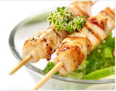 Food on a stick.... Perfect