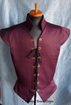Ready to Wear Mens Renaissance Doublet by midnightbreezedesign, $95.00