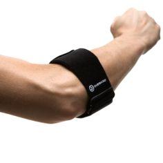De Rehband elleboogbrace 7923 vermindert pijn die veroorzaakt wordt door overbelasting of irritaties bij racket sporten en golf.