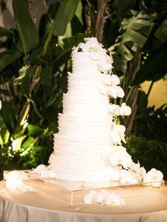 Featured Photographer: Samuel Lippke Studios; elegant white wedding cake