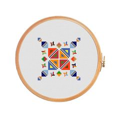 Geometric triangles - cross stitch pattern - modern cross stitch instant download ornament decoration