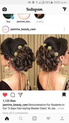 hairstyle for women Bridal Hair Buns, Bridal Hairdo, Hairdo Wedding, Engagement Hairstyles, Indian Wedding Hairstyles, Braided Ponytail Hairstyles, Mom Hairstyles, Hair Tutorials For Medium Hair, Hair Up Styles