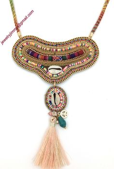 Find More Pendant Necklaces Information about 2016 New Bohemia tassel pendents necklace unique boho chic collier Necklaces ethnic pink shell necklace for women party,High Quality necklace leather,China jewelry natural Suppliers, Cheap necklace chicago from J&M Fashion Items on line on Aliexpress.com