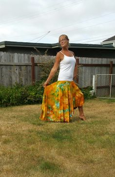 Ice dyed skirt BRIGHT yeLlow Tie dYe sKirt tie by LunabeanShoppe