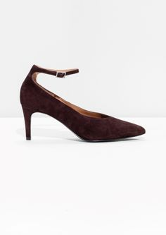 & Other Stories | Ankle Strap Suede Pumps
