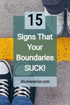 15 signs that your boundaries need work along with some additional information about what boundaries are, and why they�re so darn important. Narcissist And Empath, Relationship With A Narcissist, Broken Relationships, Healthy Relationships, Controlling Relationships, Emotional Abuse, Relationship Challenge, Relationship Advice