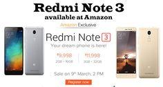 Buy Redmi Note 3 at Rs.9998 on AmazonBy Sabhaya SagarMobileNo commentsBuy Redmi Note 3 at Rs.9998 on Amazon
