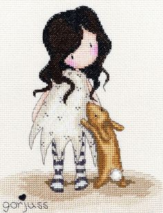 I Love You Little Rabbit Bothy Threads Counted Cross Stitch Kit Gorjuss Collection Kit contains: 14 count Zweigart Aida, pre-sorte Cross Stitch Love, Counted Cross Stitch Kits, Cross Stitch Charts, Cross Stitch Designs, Cross Stitch Patterns, Cross Stitching, Cross Stitch Embroidery, Bothy Threads, Santoro London