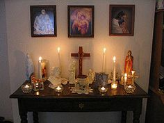 About altars on pinterest home altar catholic and prayer corner