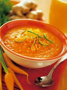 Zuppa speziata di carote e soia gialla