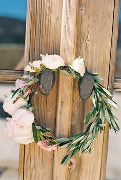 Flower crown: http://www.stylemepretty.com/little-black-book-blog/2014/10/31/intimate-sunstone-villa-wedding/ | Photography: Khanh Hogland - http://www.khanhhogland.com/