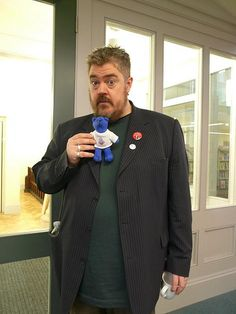 Phill Jupitus and Bookstart Bear
