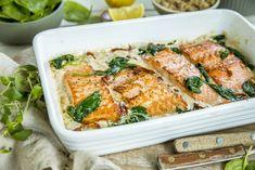 Tips du kan gjøre i hverdagen Fish And Meat, Fish And Seafood, I Love Food, Lchf, Pasta Salad, Feta, Chicken, Baking, Dinner