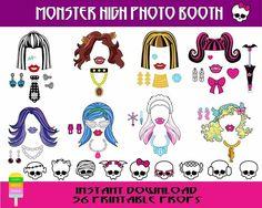 Happy Fiesta Design - Printable Photo Booth Props -Monster High Photo Booth - Monster High Photo Props  #happyfiestadesign #photobooth #photoprops #printableprops #partyprops #photoboothprops  #monsterhigh #monsterhighparty #monsterhighprops #monster