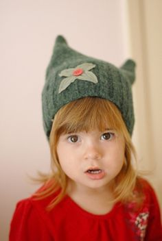 forest creature hat upcycled by mosey on Etsy