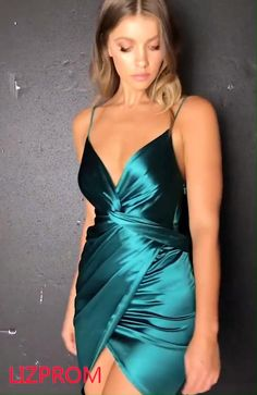 Belinda Dress Emerald - - This stunning, emerald dress pairs perfectly with nude heels and gold jewellery for a gorgeous party look. Source by Satin Dresses, Sequin Dress, Sexy Dresses, Silk Dress, Evening Dresses, Fashion Dresses, Silk Short Dress, Satin Bodycon Dress, Satin Mini Dress