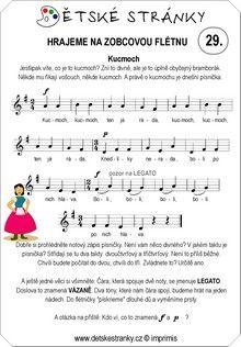 Škola hry na zobcovou flétnu zdarma - LEKCE 29. Words, Horse