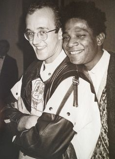 Keith Haring & Jean-Michel Basquiat; photo by Warhol