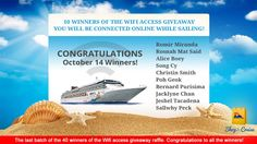 Connect Online, Stay Tuned, Wednesday, Wifi, Cruise, October, Hot, Free, Cruises