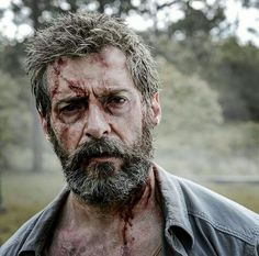 Hugh Jackman in Logan Logan Wolverine, Marvel Wolverine, Marvel Heroes, Marvel Dc, Hugh Jackman, Xmen, Logan Movies, Old Man Logan, Disney Films