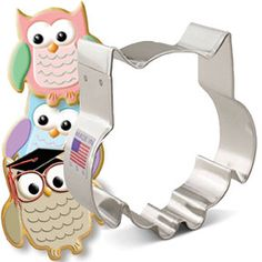 Owl Cookie Cutter ~ Owl Party ~ Owl Shower ~ Metal Cookie Cutter ~ Made in the USA by DKDeleKtables on Etsy https://www.etsy.com/listing/453060586/owl-cookie-cutter-owl-party-owl-shower