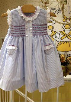 Pink Dresses For Kids, Little Girl Dresses, Toddler Dress, Toddler Outfits, Kids Outfits, Girls Smocked Dresses, Baby Girl Dresses, Baby Girl Fashion, Kids Fashion