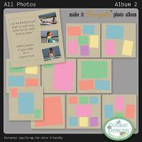 All Photos Basic Album 2 - try these pages to make a simple and quick album. Embellish and add your text. http://www.simplylovescrapbooking.com/index.php?main_page=index&cPath=118&zenid=a6m8g6mr7l49nph2d1ncddhnq3