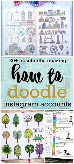 Fake it til you make it! These amazing how to doodle Instagram accounts will make you an artist in no time! | Zen of Planning | Planner Peace and Inspiration