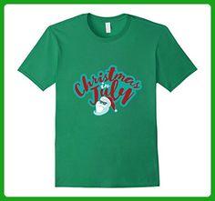Mens Christmas In July Decoration Party Supplies T-shirt 3XL Kelly Green - Holiday and seasonal shirts (*Amazon Partner-Link)