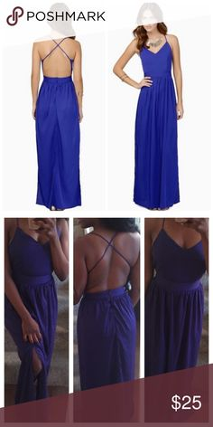 Tobi Blue strappy maxi Gently used dress. No holes/stains. Just too tight now.   Tags: Hello molly, hot miami styles, tobi, fashion nova, topshop, wow couture, boohoo, nasty gal, forever 21, f21, celeb boutique, house of cb, celebrity, model, club, evening, party, night, missguided, kardashian, bebe, aldo, arden b, body shop, asos, zara express bcbgmaxazria body central banana republic free people love culture Tobi Dresses Maxi