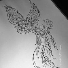 trendige Ideen Phoenix Bird Tattoo Design - - My most beautiful tattoo list Feniks Tattoo, Tattoo Drawings, Body Art Tattoos, Small Tattoos, Sleeve Tattoos, Sketch Tattoo, Phoenix Tattoo Feminine, Phoenix Bird Tattoos, Phoenix Tattoo Design