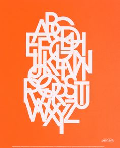Cluttered alphabet #orange