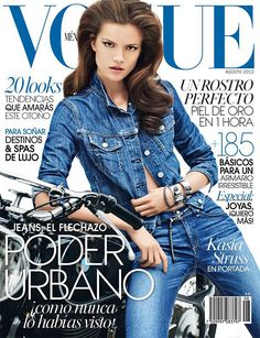 Kasia Struss Dons Rag & Bone Denim for Vogue Mexico's August 2012 Cover - Fashion Gone Rogue: The Latest in Editorials and Campaigns